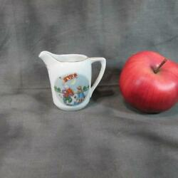 Antique Schumann Nursery Rhyme 3 Pitcher, Cat With Fiddle, Cow Jump Over Moon