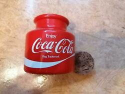 Coca Cola Coke Glass - Bottle With Cork - One Of A Kind - Old And Rare 5c
