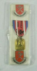Us Military Set Wolf Brown Medal Badge Ribbon Insignia Learn Today Lead Tomorrow