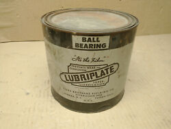 Vintage Lubriplate Ball Bearing Grease Can 5lb Full