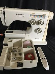 Vtg.viking Husqvarna Sewing Machine Model 60 10 No Foot Pedal. For Parts Only.
