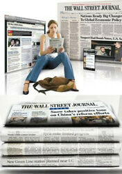 Wall Street Journal Subscription Print With Digi 1 Year Wsj 4-5 Day Start Time