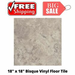 Peel And Stick Armstrong Flooring 18 X 18 Vinyl Flooring Tile 45 Sf/pack Bisque