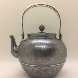 Made Of Sterling Silver Moon-shaped Boiling Water Bottle Sencha Utensils