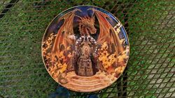 Myles Pinkney Crystal Dragon Franklin Mint Collector Plates Set Of 9