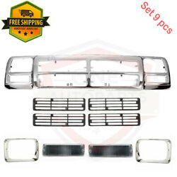 Ch1200137 For 1991-93 Dodge D150 D250 Grille Headlamp Door Signal Lamp Assembly