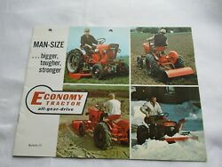 Economy Standard Deluxe Tractor And Attachments Loader Plow Mower Brochure