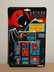 Vintage Toy 1992 Dc Comics Batman Stampers And Stamp Pad Collection New Old Stock