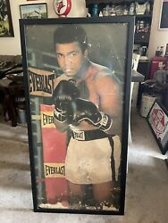 Authentic Muhammad Ali Sign Vintage Boxing Poster/advertisement Everlast