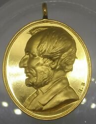 1865 Abraham Lincoln Funeral Medal King-279 Martyr To Liberty