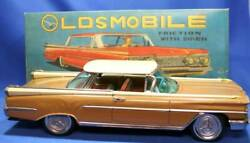 Things At The Time 1959 Ichiko Oldsmobile Old Movil Vintage Antique Tin Toy Made