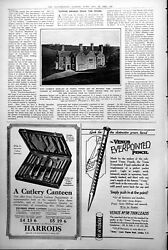 Antique Print Hawkers Vicarage Morwenstow Chimneys Church Towers Tomb 1922 20th