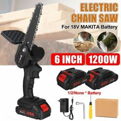 Electric Chain Saw With Battery Garden Pruning Logging Woodworking Power Tools