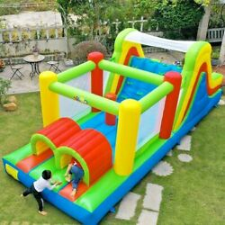 Giant Inflatable Bouncy Castle Jumping Bounce House Large Slide Kids Fun Game