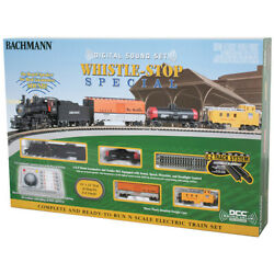 New Bachmann Whistle-stop Special Train Set W/digital Sound N Scale Free Us Ship