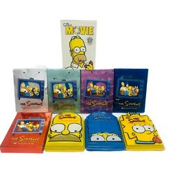 Simpsons Dvd Series 1-8 Complete Seasons And The Simpson's Movie - Excellent Cond.