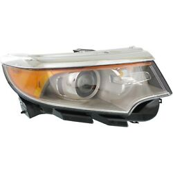 Headlight For 2011 2012 2013 2014 Ford Edge Right Clear Lens With Bulb
