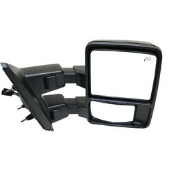 Tow Mirror For 2013 2014 Ford F-150 Passenger Side Power Fold Heat Signal Light