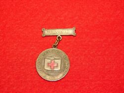 Vintage Wwi 1918 American Red Cross First Aid Advanced Medal