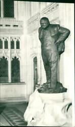 Statue Of Sir Winston Churchill In Member's Lobby I - Vintage Photograph 3127851