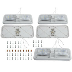 5pcs Led 12v Ceiling Dome Light Lamp W/switch Universal For Rv For Auto