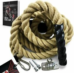 Gym Climbing Rope With Mounting Hardware For Fitness Home Gym Indoor And Outdoor