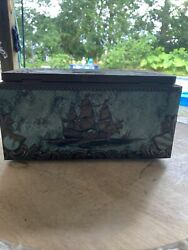 Vintage Bering Galleon Ship Sailing Cigar Box With Stamps