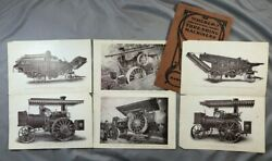 C 1910 Huber Farm Thresher Machinery Steam Engines Advertising Antique Images