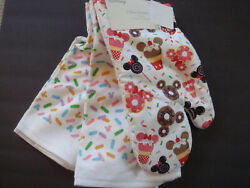 Nwt Disney Mickey And Minnie Mouse Snacks Set Of 3 Oven Mitt And Kitchen Towels