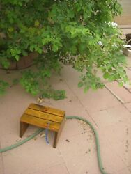 Vintage 8 X 12 Top Wooden Stool Step Seat Country Kitchen Decor