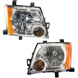 Headlight Set For 2005-2015 Nissan Xterra Left And Right With Bulb Capa 2pc