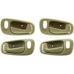 Interior Door Handle For 98-2002 Chevrolet Prizm Set Of 4 Front And Rear