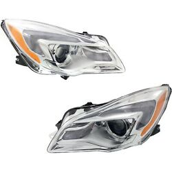 Headlight Set For 2014-2017 Buick Regal Left And Right With Bulb 2pc