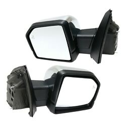 Mirror Set Of 2 For 2015-2018 Ford F-150 With Signal Light Chrome And Memory