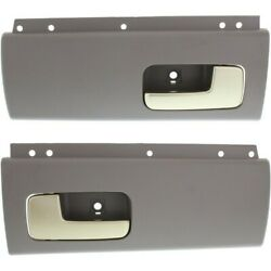 Door Handle Set For 2003-2011 Lincoln Town Car Rear Gray W/chrome Lever 2-pcs