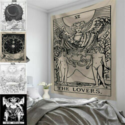 Tarot Card Moon Art Wall Hanging Poster Tapestry Hippie Mandala For Home Bedroom