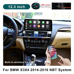 12.3 Android For Bmw X3 X4 F25 F26 2014-2016 Nbt Car Gps Radio Dvd Usb Stereo
