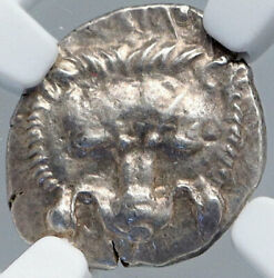 Mithrapata Dynast Of Lycia Ancient Silver Greek Coin Lion Triskeles Ngc I89144