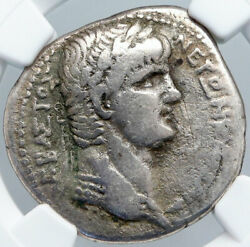 Nero Authentic Ancient Silver Roman Tetradrachm Coin Of Antioch Eagle Ngc I89133