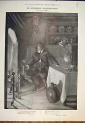 Old Antique Print Christmas Pudding Thief Stewart Ward Motor Car Toy 1906 20th