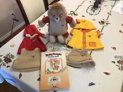 Vintage 1985 Worlds Of Wonder Teddy Ruxpin Bear Lot In Good Condition All Works