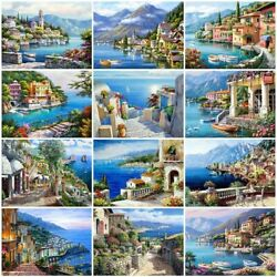 5d Diamond Painting Seaside Landscape Embroidery Reflection Mosaic Bedroom Decor