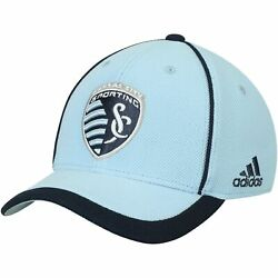 Sporting Kansas City Adidas Youth Fan Piping Structured Adjustable Hat - Light