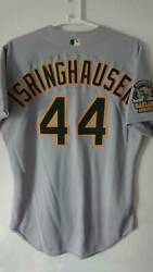 Mlb Auckland Athletics 44 Jason Islinghausen Jersey Used In Real Use With