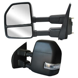 Towing Mirrors For 2017-2020 Ford F250 F350 Super Duty Power Heated Signal Lh Rh