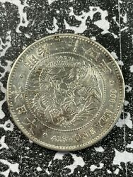 1891 Japan 1 Yen Lotjm3171 Large Silver Coin Beautiful Detail Reverse Cleaned