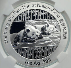 2014 China Official 1oz Silver Mint Medal Coin Panda Smithsonian Ngc Coin I90680