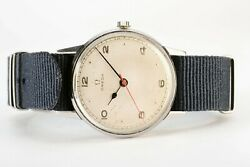 Rare Vintage Omega Military Wwii 1945 Original Dial 35mm Case S.steel Watch