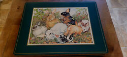 New Set Of Eight Pimpernel Cork Placemats English Rabbits In The Garden
