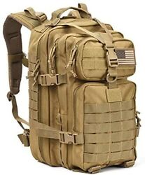 Military Tactical Assault Pack Backpack Army Molle Waterproof Bug Out Bag Backp